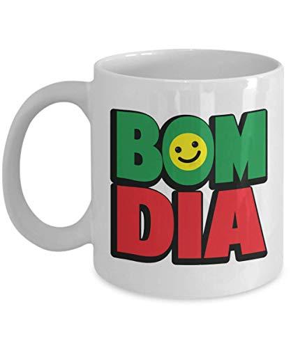 330ml Tazas de té Tazas para espresso Bom Dia Cocina Mesa D Vajilla Platos Productos Portugués Americano Brasileño Europeo Portugal Taza bebida café Regalo Vajilla de Agua/Leche para Hogar,Oficina