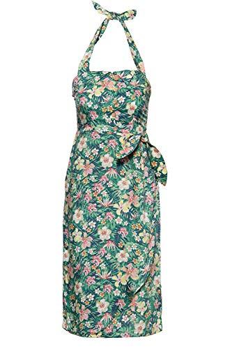 Queen Kerosin Damen Sommerkleid Mit Tropischem Muster V Ausschnitt Ohne ärmel Sommerkleid Normal Gemustert