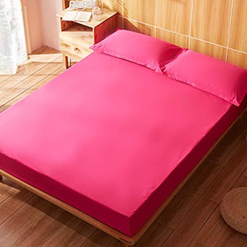 haiba Sábanas de cama extra profundas de microfibra 100%, ultra suaves, sedosas y resistentes a las arrugas, color rojo rosa, rosa
