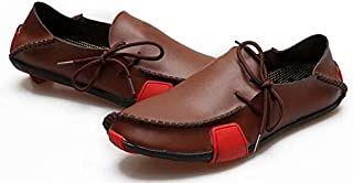 Men's casual Leather shoes X74 brown