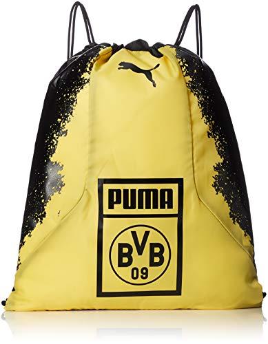 PUMA BVB Fan Gym Sack Turnbeutel, Black-Cyber Yellow, UA