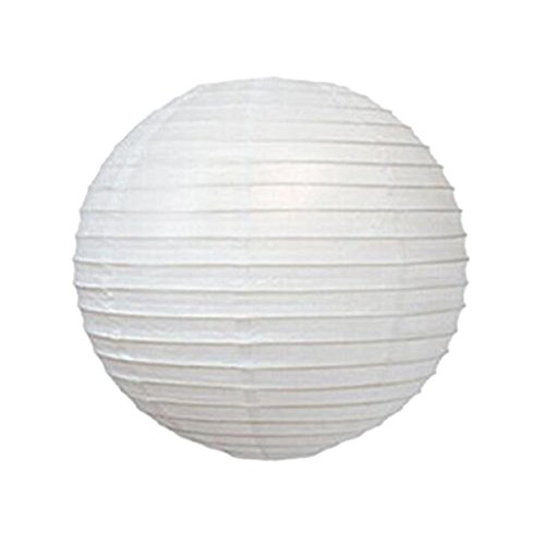 ultnice Lot de 10 lanternes papier abat-jour blanche ronde décorative pendantes de 12 pouces