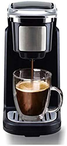 MISLD K-Cup Kapsel Kaffee Automatische 800W 19 bar Hochdruckpumpe Extraktion Kaffee-Tee-Dual-Use-300ml mit abnehmbarem Wassertank leicht zu reinigen Für Home Office, Weiss,Schwarz