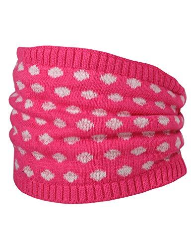 maximo meisjes tube met Lurex en stippen sjaal, meerkleurig (Fandango roze/wit 6001), (maat fabrikant: one size)