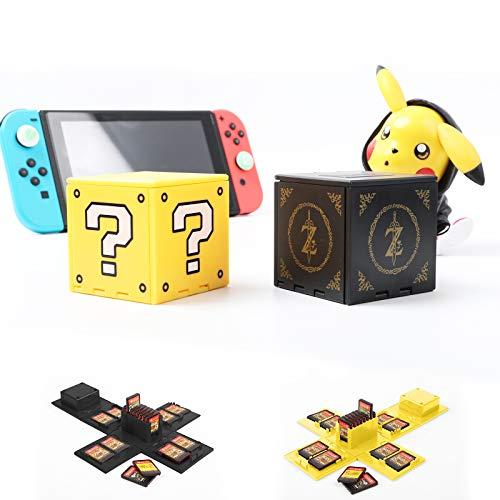 Étui pour cartes de jeu Nintendo Switch avec 16 emplacements (bloc de questions + Zelda)