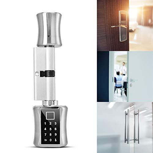 Naroote Passwort Türschloss, Biometrisches Fingerabdruck Türschloss Intelligentes biometrisches Fingerabdruckscanner Türschloss, passwortcodiertes Schloss für Smart Home