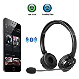 Best Bluetooth Headphones With Mic IPhones - Bluetooth Headphones with Microphone LUXMO Wireless Bluetooth Headset Review