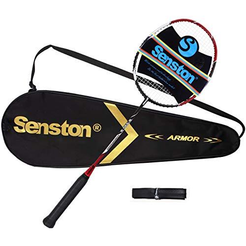 Senston Raquette de Badminton en Graphite Unique de Haute Qualité avec Sac de Transport de Badminton
