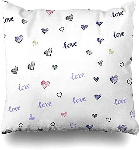 Throw Pillow Cover Club Bright Dark Multicolor Phrase Abstract Heart Celebration Color Day Drawn Design Decorative Pillow Case Home Decor Square Size 16x16 Inch Pillowcase-16x16 Inch