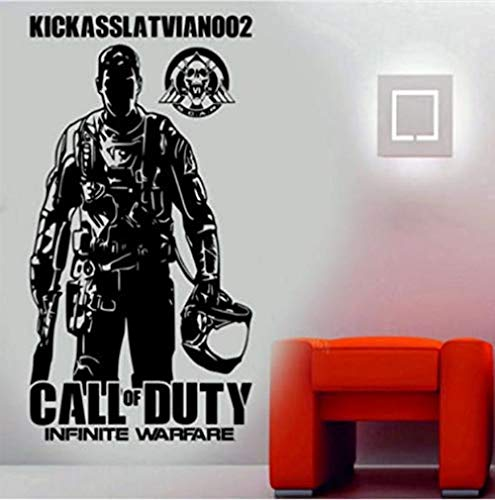 Adhesivo de pared Jhping etiqueta de la pared Call of Duty Infinite War Style vinilo adhesivo decorativo para pared, 36 x 63 cm