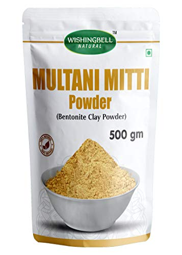 Wishingbell Natural Multani Mitti Powder For Face Skin Whitening (500 Grams) Bentonite clay powder Pure & Natural Face and Hair Pack (multani matti Powder) 0.5 kg