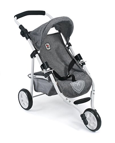 Bayer Chic 2000 612 76 Jogging Buggy Lola, Puppenwagen, Jeans grau