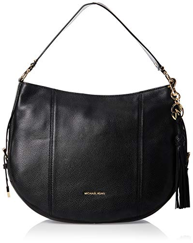 """Made of soft pebbled leather Classic and stylish, light weight and spacious Top zip closure Inside 4 slip pockets and 1 zip pocket 13""""L x 11.5""""H x 4.5""""D"""