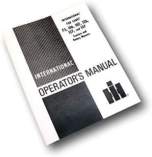 International Cub Cadet 126 127 147 Lawn Tractor Operators Owners Repair Manual