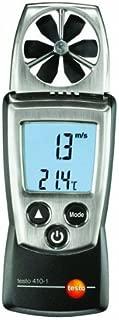 Testo 410-1 Digital Pocket Vane Anemometer, 0.4 to 20 m/s Velocity, -10 to +50°C Temperature