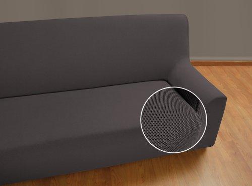 Velfont – Bielastischer Sofabezug Universal - 2-Sitzer - Grau - verfügbar in verschiedenen Größen und Farben