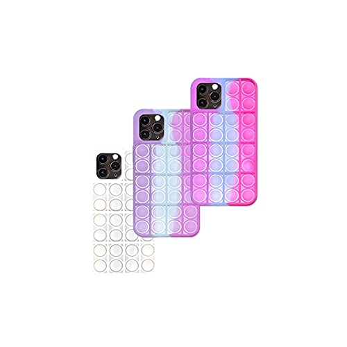 Light Sensitive Color Changing,Fidget Toys Phone Case,Color Changing Push Pop Bubble Protective Case for iPhone 7,8,7puls,8puls,X,XS,XS Max,XR,11,11pro,11pro max,12,12Pro,12Pro Max(iPhone 11)