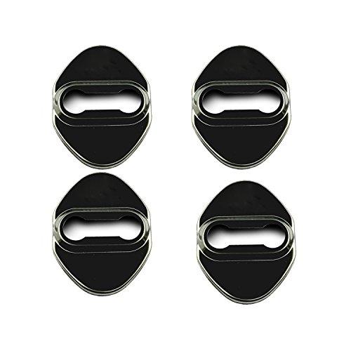 LFOTPP C-HR NGX50 ZYX10 Cubierta de la cerradura de la puerta del coche de acero inoxidable Protección interior Accesorios Cubierta de la cerradura de la puerta (Negro)