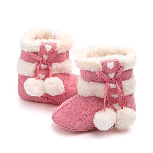 Gavena Botitas y Botas de Bebés Unisexo Zapatos de Invierno Cálido para Niño Niñas (18-24 Meses, Rosado