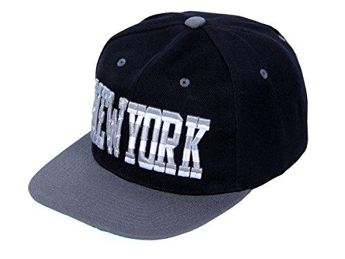 Snapback Basecap Starter Hat Hip Hop Cap Schirmmütze Baseballcap Baseball Mütze Kappe, Farbe wählen:Cap-36 NY schwarz grau