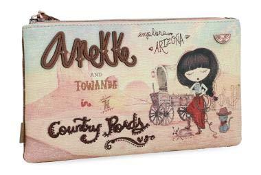 Bolso marrón Anekke Arizona con impresión frontal de la marca