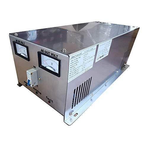 Plusenergy wccsolar Stabilizzatore di tensione AC 5000 VA/4000 W, regolatore di tensione per generatore o corrente della strada instabile da 160 a 260 V