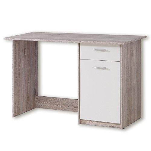ROLLER Schreibtisch - Sandeiche-weiß - 123 cm