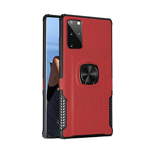 Galaxy Note 20 Ultra Case,WATACHE Stylish Dual Layer Hard PC Back Case with 360 Degree Rotation Finger Ring Grip Kickstand, Magnetic Car Mount Feature for Galaxy Note 20+ Plus Pro Ultra 6.9' 2020,Red