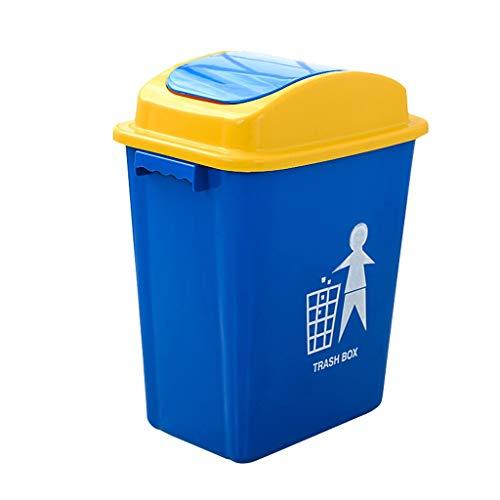 NYKK Cubo de Basura Bote de Basura plástico práctico del Hotel de la Cocina del Bote de Basura de la Cocina de la Cubierta práctica Residuos Contenedores (Size : 20L)
