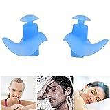Tbest Tapones para los Oídos de Natación Impermeable Profesional de Silicona Antirruido 1 Par...