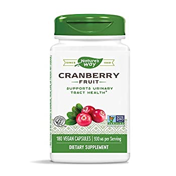 Nature s Way Cranberry Fruit Capsules Non-GMO Gluten Free Supplement 930mg per Serving 180 Count