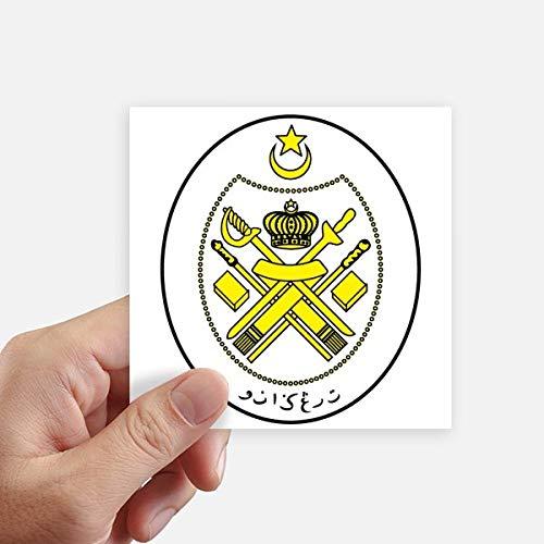DIYthinker Malasia Asia Nacional Plaza Emblema Pegatinas Pared de 10 cm Maleta portátil Motobike Decal 8pcs 10cm x 10cm