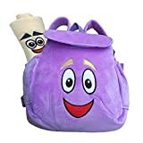 Dora bag Dora Explorer Backpack , Rescue Bag Purple Dora Explorer Soft Plush Backpack For 2-5 Years Old Gifts ,10 inch Rescue Bag with Map