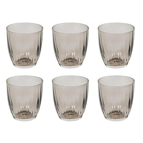 Bohemia Cristal 10259315 Georgia Wasserglas 260 ml, Kristallglas, Design im Landhaus-Stil, braun (6 Stück)