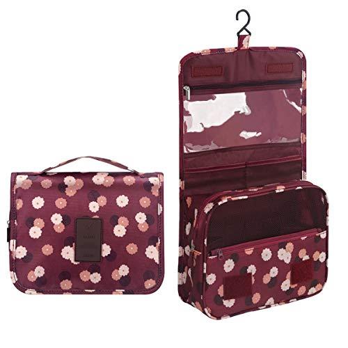Kulturtasche zum Aufhängen | Faltbarer Reise Kulturbeutel mit Tragegriff | Multifunktionale Toilettentasche, platzsparende Kosmetiktasche, Waschtasche, Waschbeutel für Herren, Damen