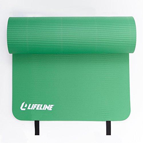 "Lifeline Exercise Mat Pro –Extra Thick 72"" X 23"" x 5/8"" Green"
