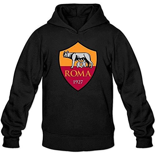Eduardo Marin Men's As Roma Football Club Logo Lover Hoodie Sweatshirt Black