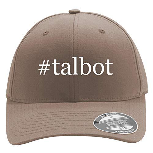 #Talbot - Men's Hashtag Flexfit Baseball Cap Hat, Khaki, Small/Medium