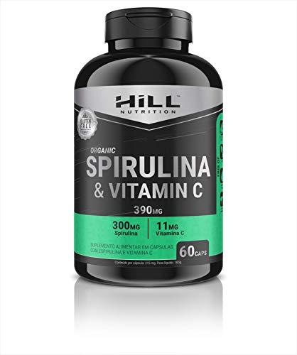 ESPIRULINA (SPIRULINA) ORGÂNICA E VITAMINA C 60 CAPS 390MG HILL