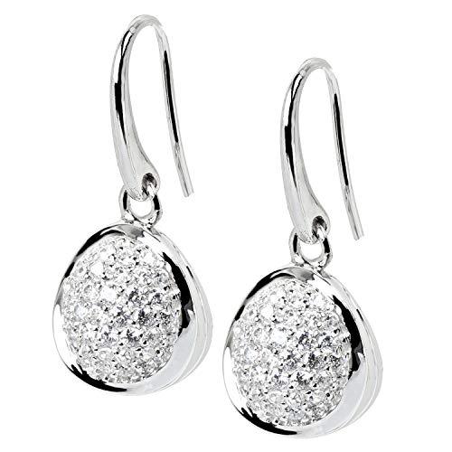 VIVENTY Damen Ohrringe Haken aus Silber 925 mit Zirkonia pavé