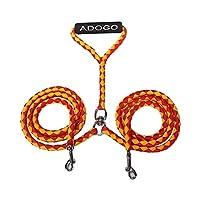 Adogo Double laisse anti-emmêlement avec double attache pour 2 chiens