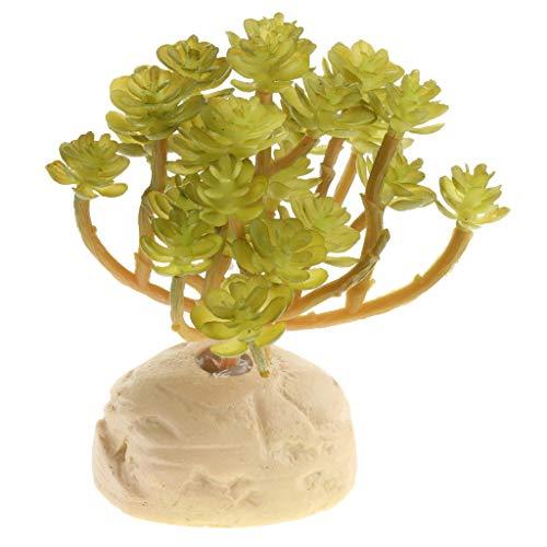 B Blesiya Plants with Realistic Look for Aquarium Fish Tank Ornament Decoration - #3, 12x10.5x6cm