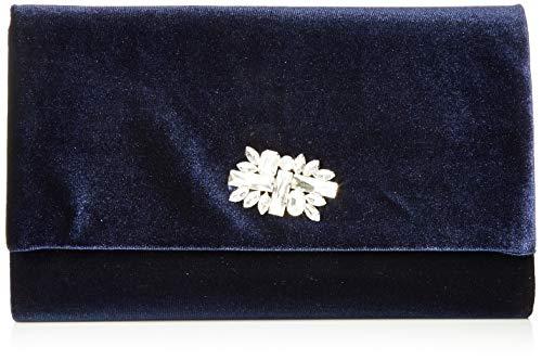 Jessica McClintock Damen Velvet Large Envelope Evening Nora, Samt, große Briefumschlag-Clutch für den Abend, Navy, Einheitsgröße