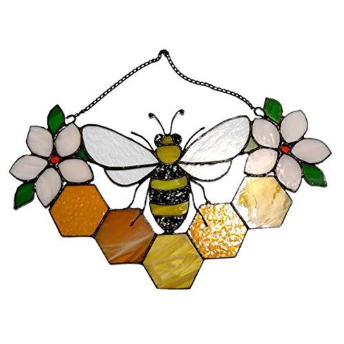 TLM Toys Adhesivo de pared con diseño de abeja, ajuste de espejo acrílico, 3D, adhesivo de pared para dormitorio, salón, dormitorio, pasillo, frigorífico.