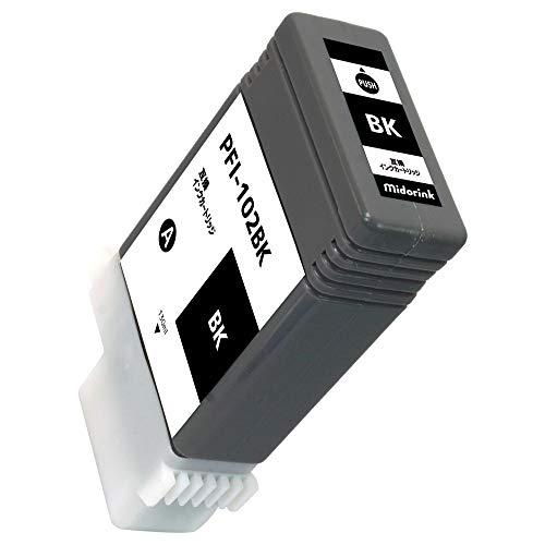 PFI-102 (BK)-1本セット キャノン用互換インクカートリッジ 残量表示 新互換チップ搭載 QR説明書 【0619製】 【型番】 imagePROGRAF iPF500 iPF655 iPF700 iPF710 iPF720 iPF750 iPF755 iPF760 iPF765 iPF510 iPF510plus iPF600 iPF605 iPF605Lplus iPF610 iPF610plus iPF650