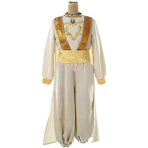 MAXIAOTONG Disfraces de de Aladdin for la Ropa de Adulto Fiesta del Carnaval Aladin Adam Prince Cosplay Disfraz Escenario de Funcionamiento con el Sombrero (Color : Clothes Hat, Size : L)