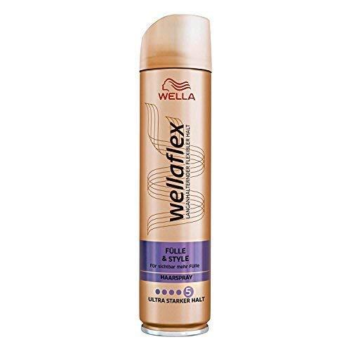 WELLA Wellaflex Haarspray Fülle & style ultra starker Halt, 6er Pack (6 x 250ml)