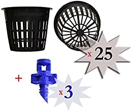 AQUEENLY Garden Mesh Net Cups 1.7 Inches Net Pots for Hydroponics Orchid 20 Pack