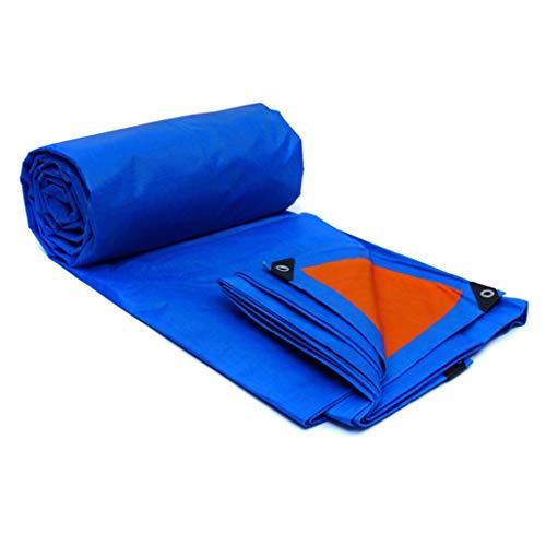 FYYONG Tarpa de agua a prueba de agua, Carro de coche Tolera tolera Tienda de plástico Plástico UV Protección contra la corrosión Camping Pesca Pesca y mascotas Tarra personalizada (Color: Azul Naranj