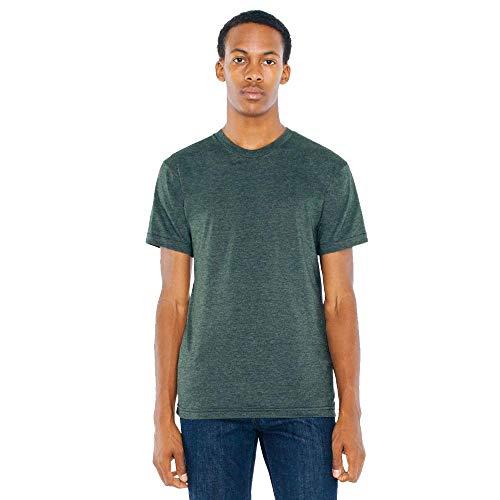 American Apparel Men 50/50 Crewneck T-Shirt Size M Heather Forest
